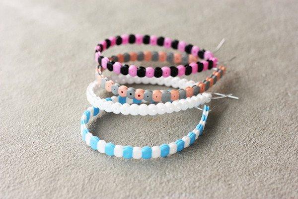 Pulseras con hama beads