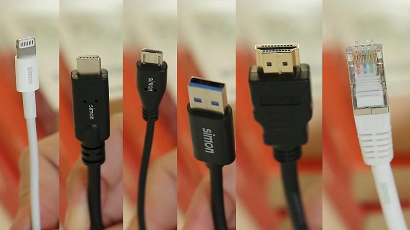 Cables multimedia de Simon
