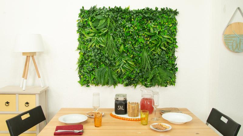 Cómo instalar un jardín vertical artificial en interior