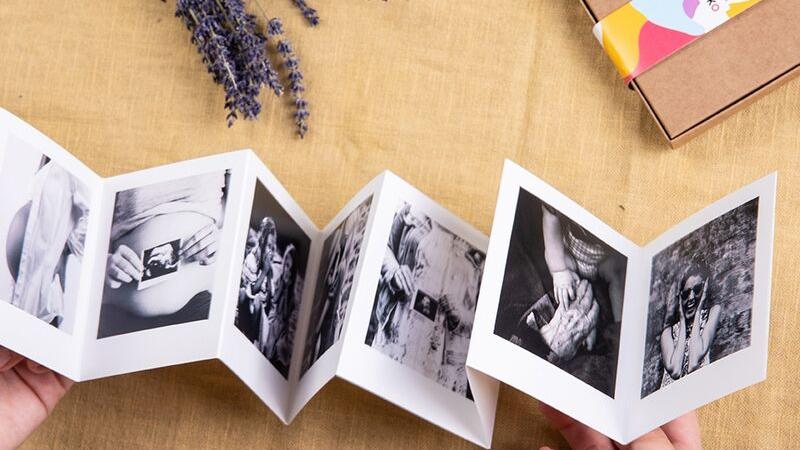 Acordeón de fotografías manualidad