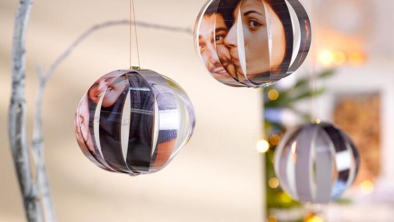 Bolas de árbol de Navidad DIY