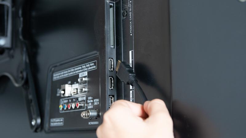 Conexión HDMI para conectar un ordenador a una televisión