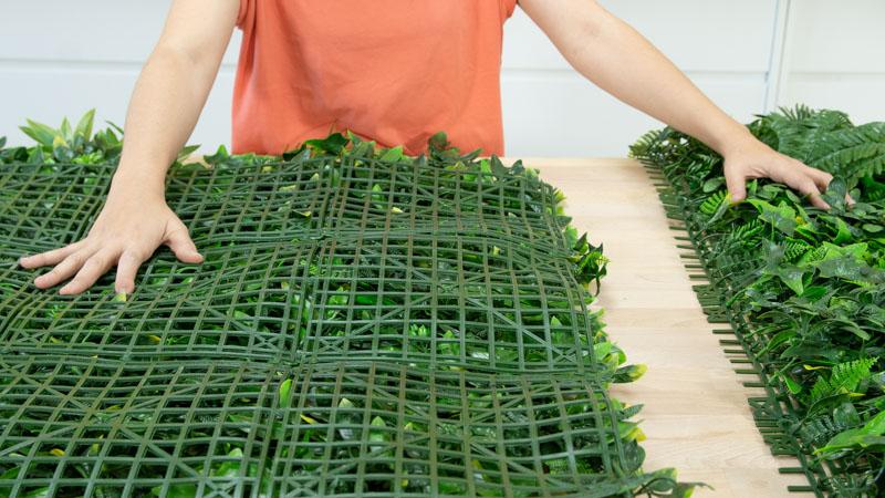 Corte de la plancha de jardín vertical