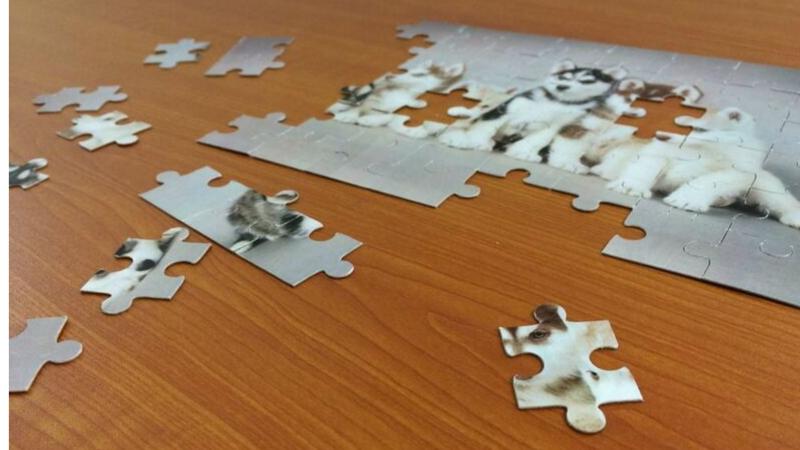 Puzzle con fotos manualidad