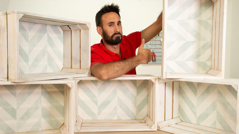 Elección del diseño o posición de las cajas de la estantería