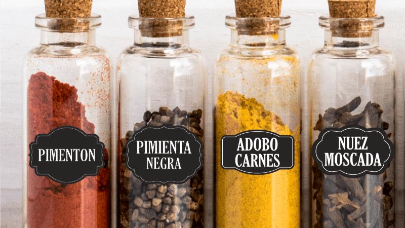 Etiquetado de los frascos de los alimentos