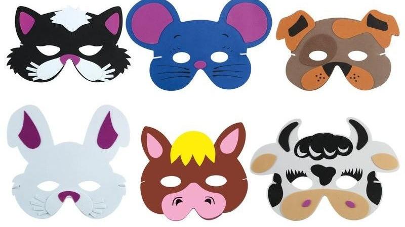 Máscaras de animales para niños