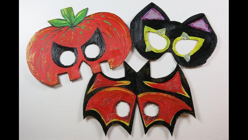 Máscaras de cartón para Halloween