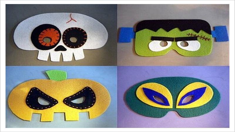 Máscaras de fieltro para Halloween