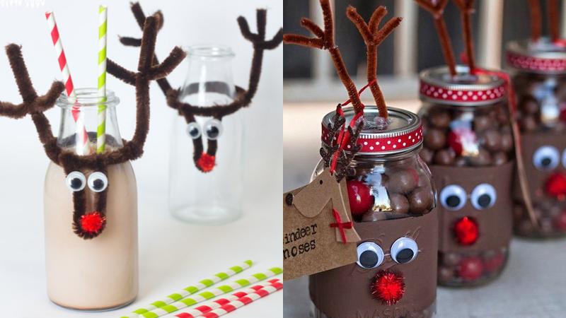 Decoraciones navideñas con limpiapipas
