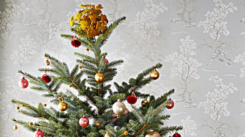 Árbol natural decorado