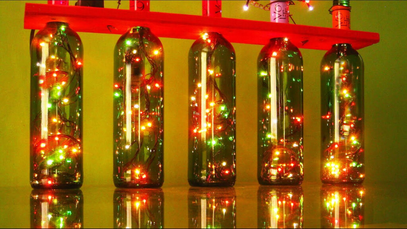 Botellas iluminadas