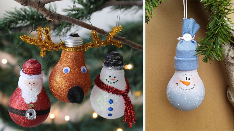 Bombillas con motivos navideños