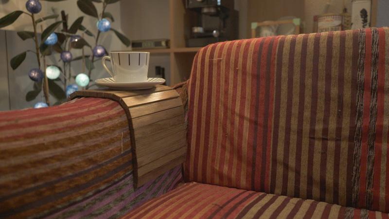 Bandeja para sofá terminada