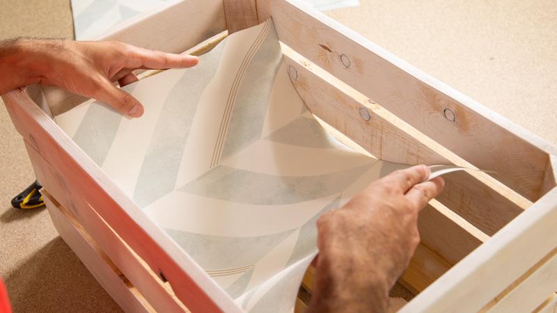 Decoración del fondo de la caja