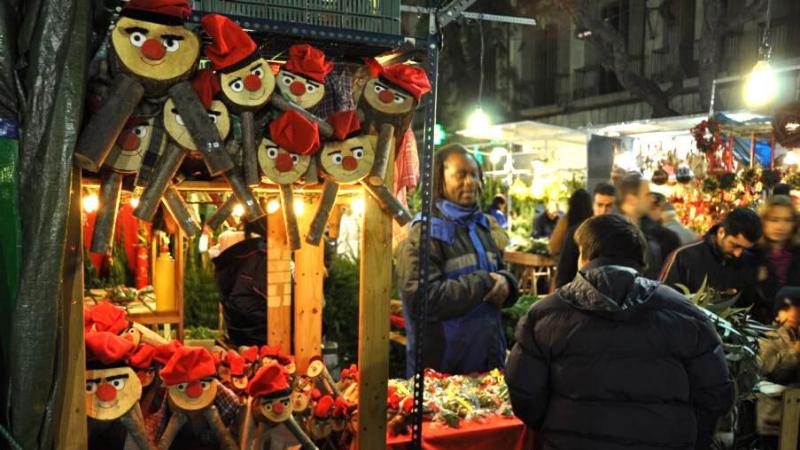 Mercado navideño de Santa Lucía en Barcelona
