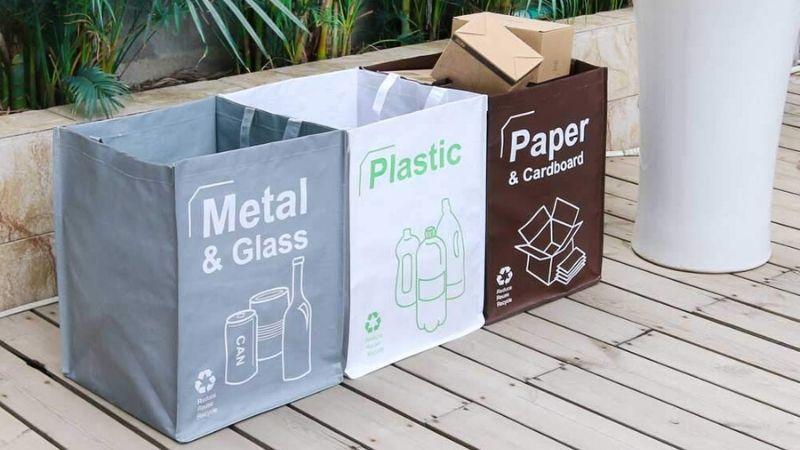 Bolsas de reciclaje reutilizables y lavables