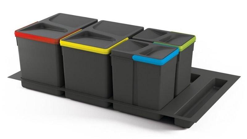 Cubos de reciclaje para cajón