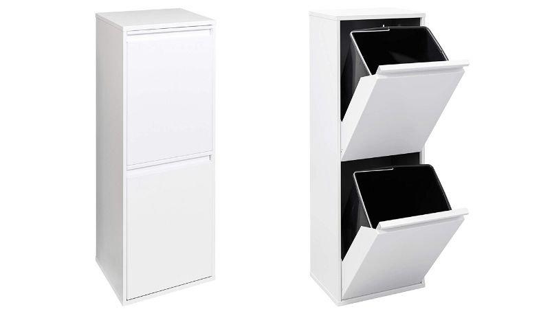 Mueble con dos compartimentos para reciclar