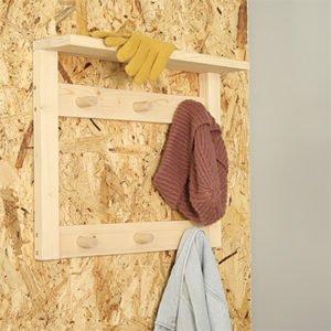 Cómo hacer un perchero doble para la pared