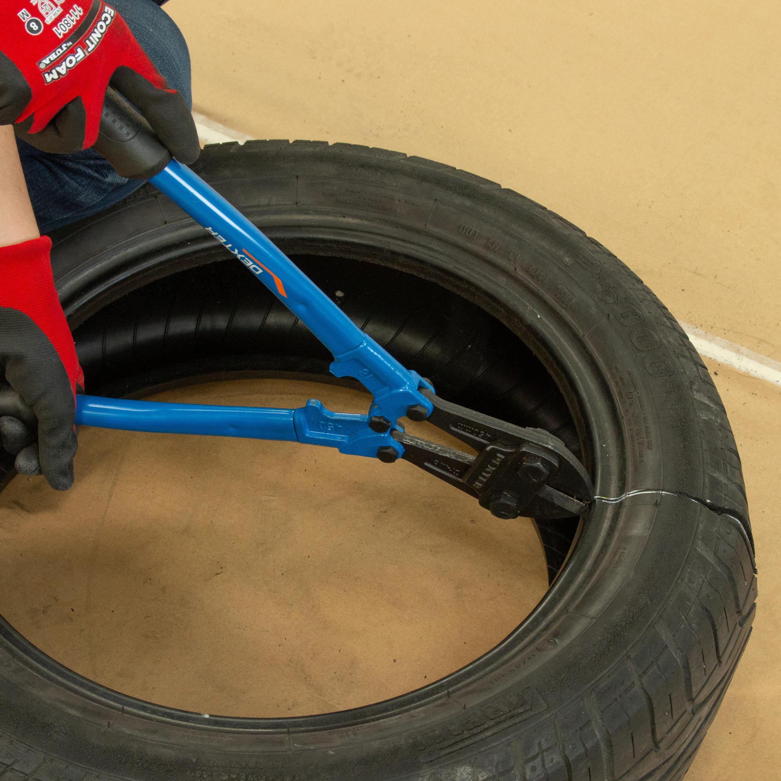 Cómo cortar neumáticos