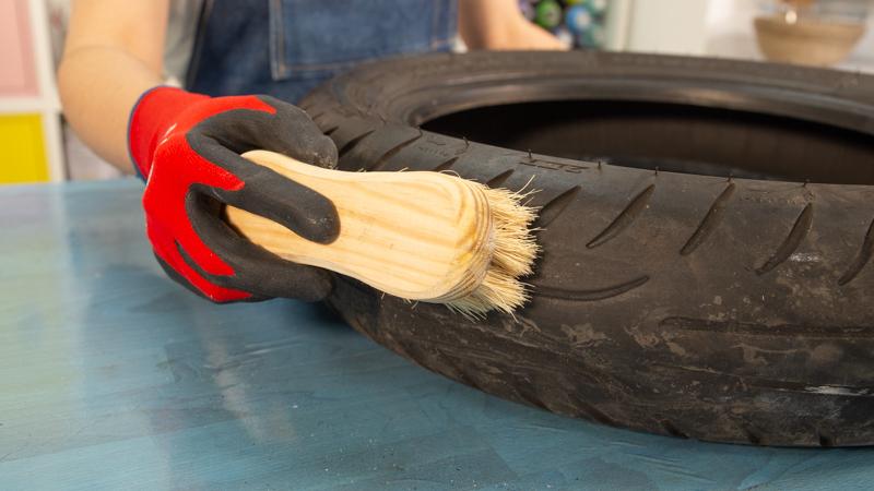Cepillado del neumático