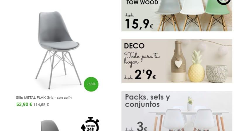 Web de decoración online Sillatea