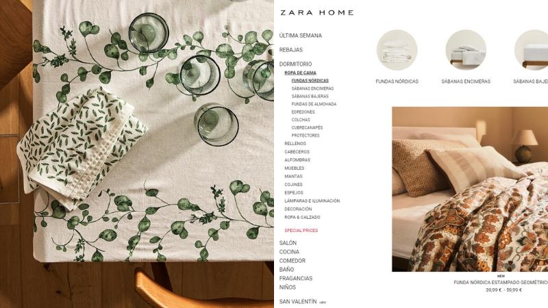 Zara Home tienda de decoración online