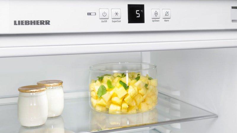 El termostato del frigorífico marca 5º Centígrados