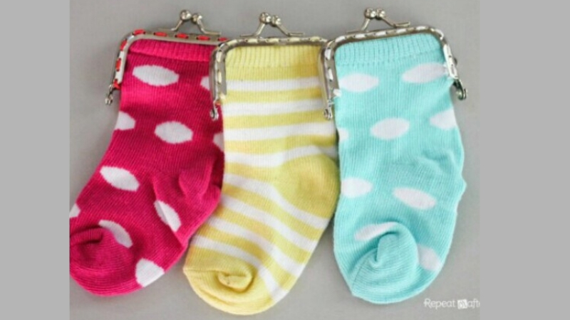 Monederos con calcetines