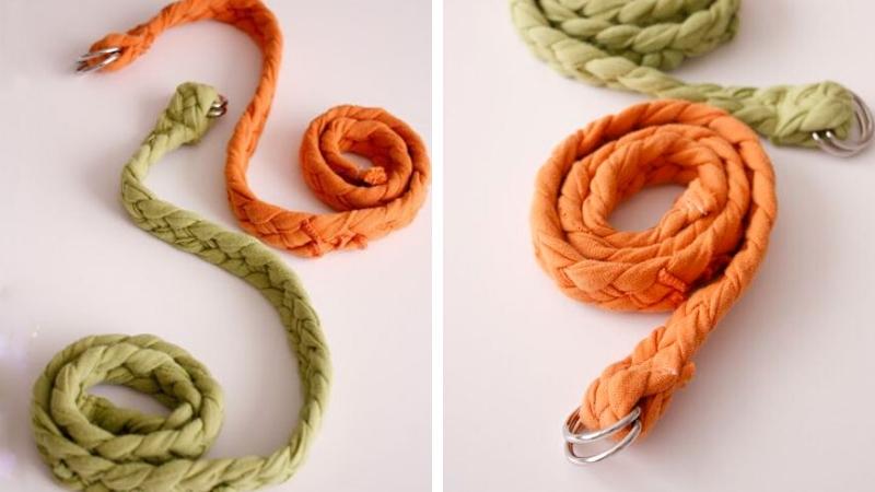 Cinturones hechos de tela