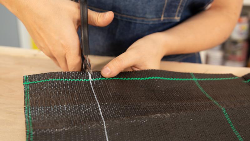 Corte de la tela geotextil