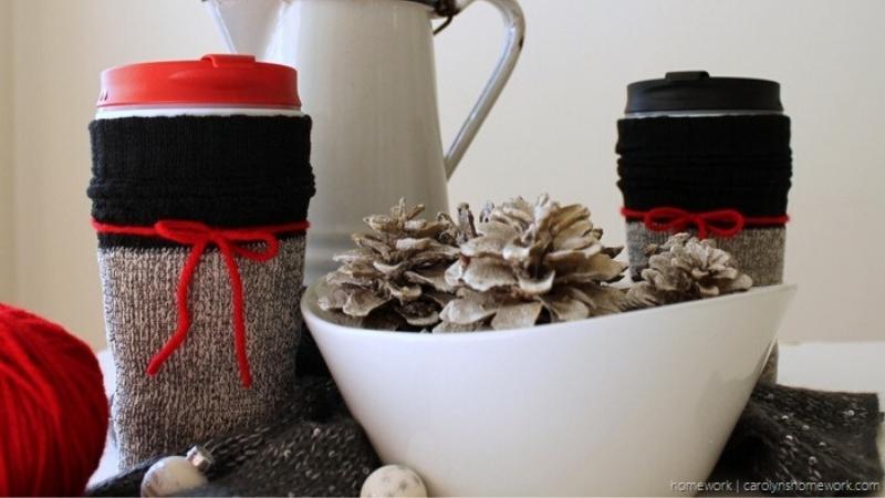Cubre tazas y cubre vasos con calcetines