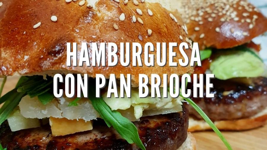 Hamburguesa casera con pan brioche, receta Thermomix