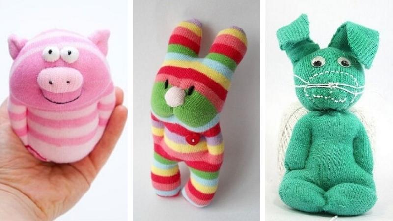 Juguetes con calcetines