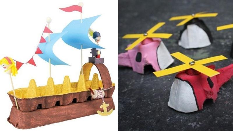 Manualidades juguetes con cartón de huevos