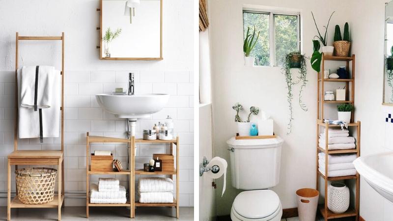 Muebles sencillos para baños pequeños
