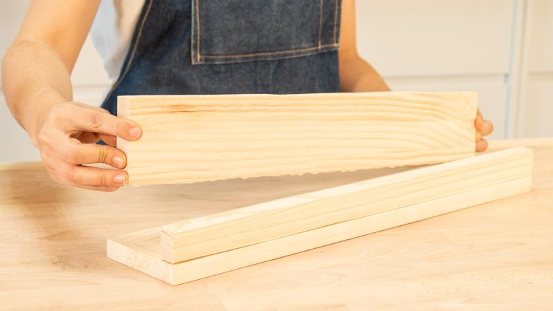 Pegado de las piezas de madera
