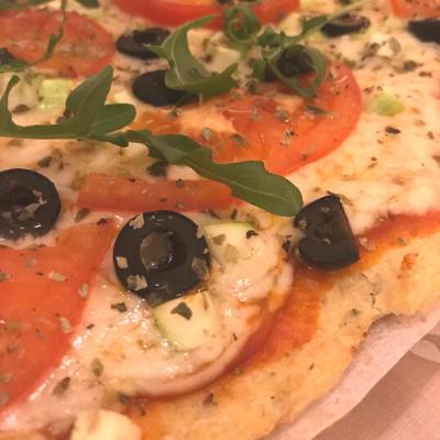 Receta de masa de pizza de coliflor