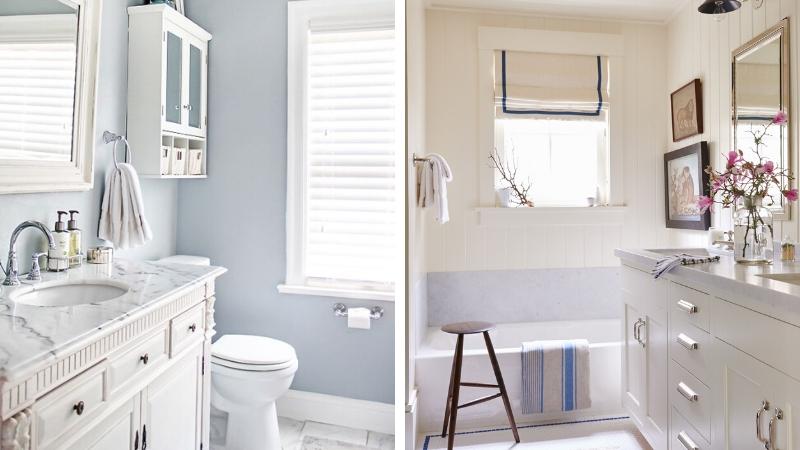 Baños luminosos con ventana