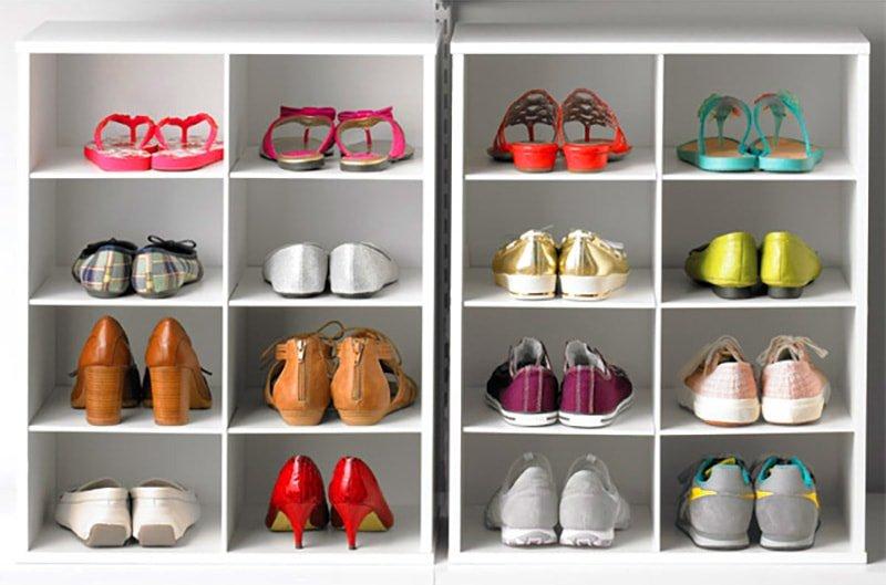 Ordenar zapatos en un casillero