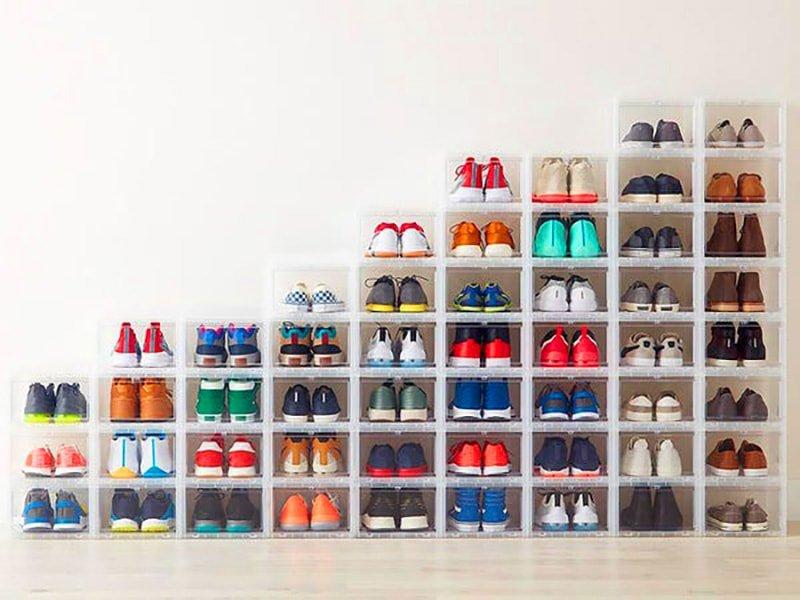 Ideas para organizar zapatos: cajas transparentes