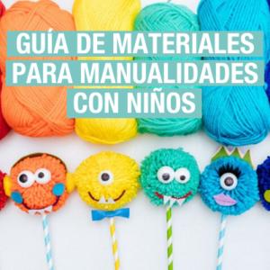 Materiales de manualidades para niños