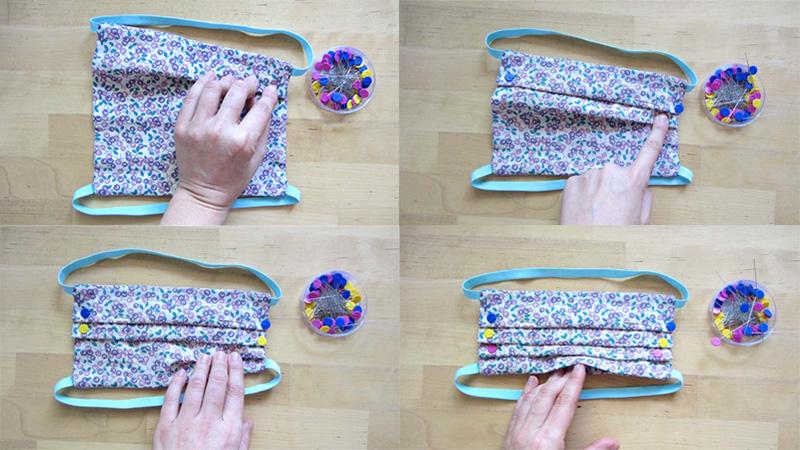 Cuatro pasos de cómo hacer los pliegues al coser una mascarilla casera