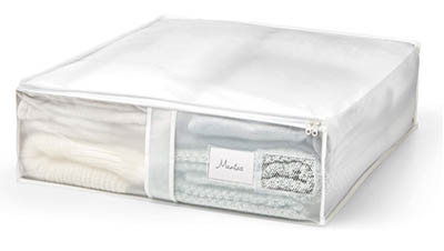 Bolsa de plástico traslúcido para guardar ropa