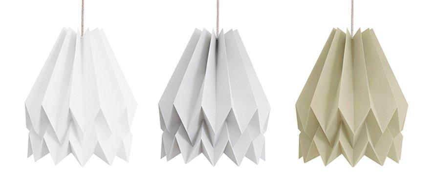 Láparas de papel origami