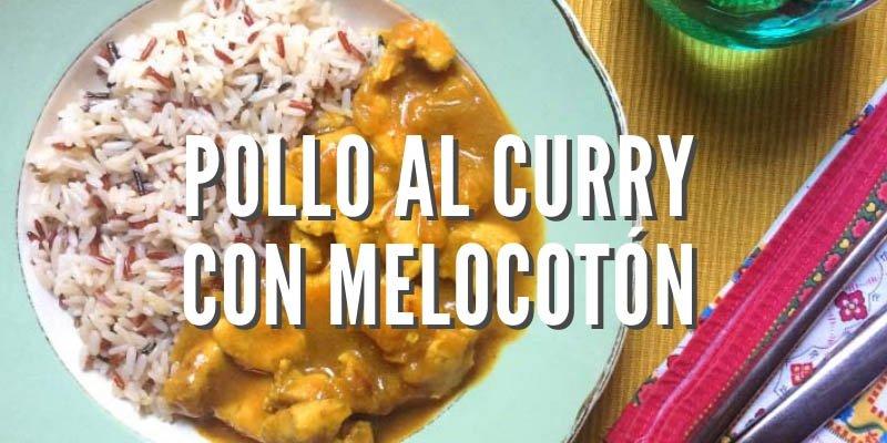 Receta de pollo al curry con melocotón