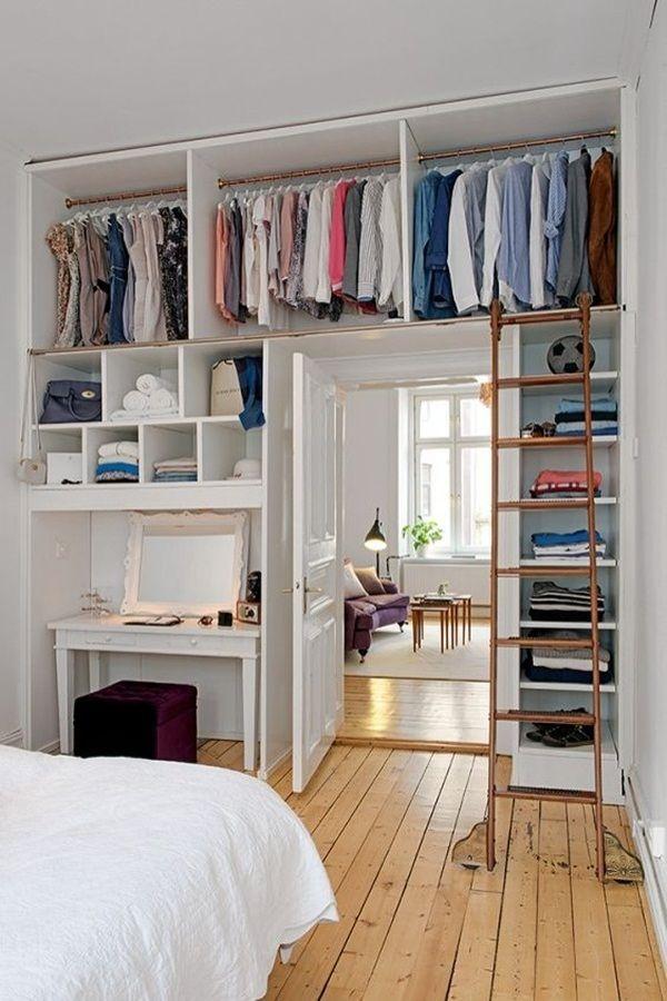 Los armarios altos te harán ahorrar espacio