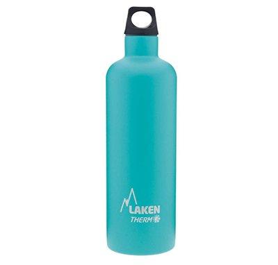 Botella térmica azul para bebidas frías o calientes