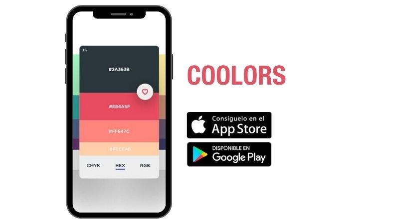 Crea paletas de colores con Coolors